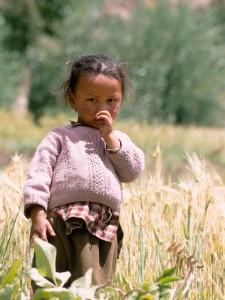 Petite fille ladakhi