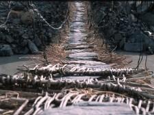 Pont suspendu sur la rivière Zanskar