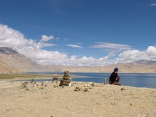 Repos au bord d'un lac
