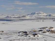 Paysage de cratères près du lac Mývatn
