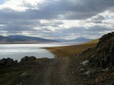 Lac Blanc Terkh dans la région de Terkhin Tsagaan Nuur