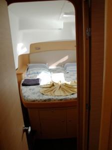 Intérieur d'une cabine du catamaran