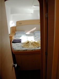 Intérieur de la cabine du catamaran