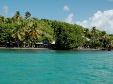Un des deux hôtel sur un îlet en Martinique