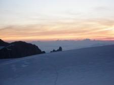 Le glacier du Trient au petit jour