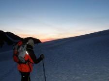 Le glacier du Trient à la lampe frontale