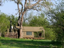 Campement au Botswana