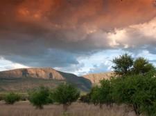 Les montagnes du Waterberg au coucher du soleil