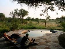Un lodge au Botswana