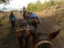 La caravane se met en route vers le mythique volcan