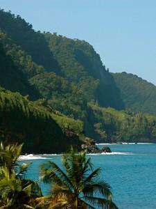 Côte nord de la Martinique