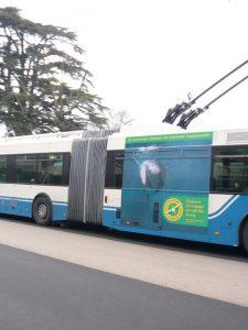 Publicité sur le bus