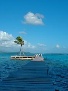 Ponton sur la Baignoire de Joséphine en Martinique