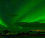 Aurora Borealis on the Lake Myvatn in Iceland