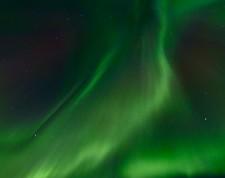 Aurores boréales dans le ciel de Myvatn