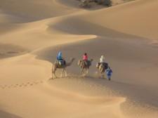 A pied et à dos de chameau aussi...