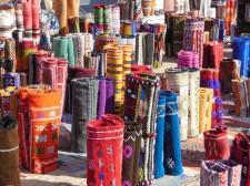 Vendeur de tapis au souk