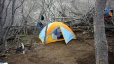 Campement à El Bolson dans la vallée del Maule (Chili)