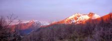 Coucher de soleil sur le cerro El Morillo (Chili)