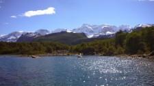Bras sud du lac Argentino en direction du lac Frias (Argentine)