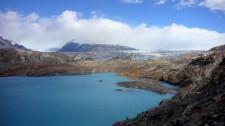 Le glacier Upsala derrière le lac Guillermo (Argentine)