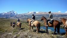 Balade à cheval dans les alentours d'El Calafate (Argentine)