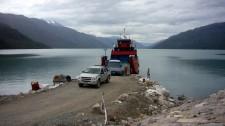 Débarquement du ferry (Chili)