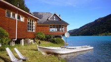 Lodge sur le rio Baker (Chili)