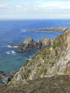Aurigny – La côte accidentée
