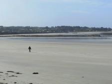 Guernesey – Balade sur une plage de l'est