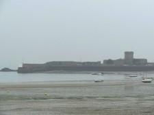 Jersey – La plage de Saint-Hélier à marée basse