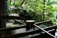 Une fontaine en bambou