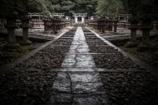 Allée du cimetière du temple Tôkô-ji à Hagi