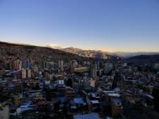 Vue de la combe de La Paz