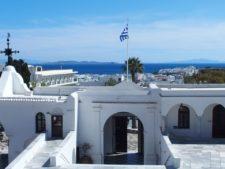 Vue de la ville de Tinos depuis l'église Panagía Evangelístria (Notre Dame de Tinos)
