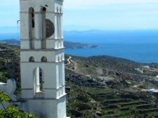 Vue depuis les hauteurs de l'île