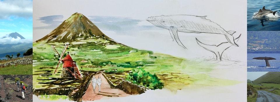 Açores – Réalisez votre carnet de voyage à l'aquarelle