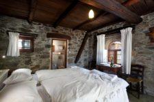 Une des chambres de la guesthouse