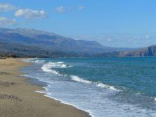 Une belle plage à l'ouest de Réthymnon