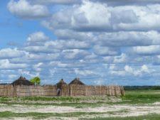 Un village de l'ethnie Kavango au nord près du fleuve du même nom